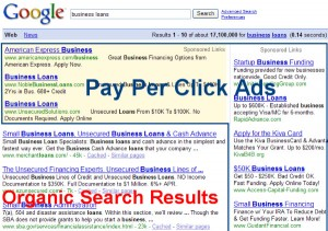 Organic Search Results versus Pay Per CLick Ads