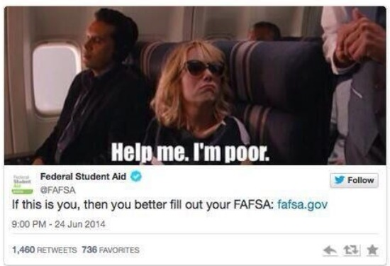 FAFSA (Federal Student Aid) Mocks The Poor: A Lesson on Using Social Media the Wrong Way